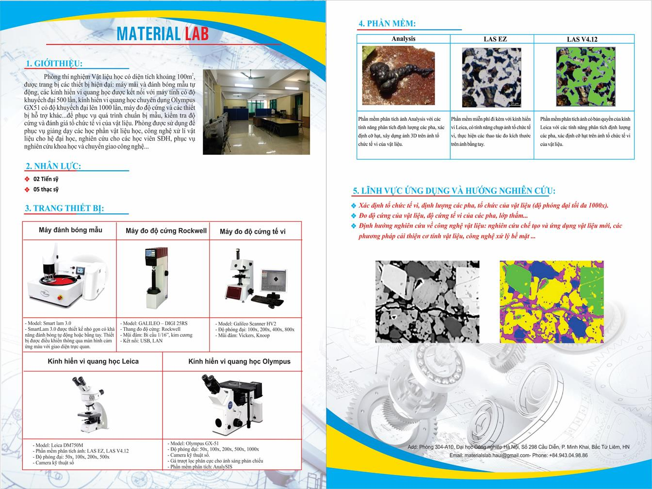 Giới thiệu các phòng thí nghiệm của Khoa Cơ khí