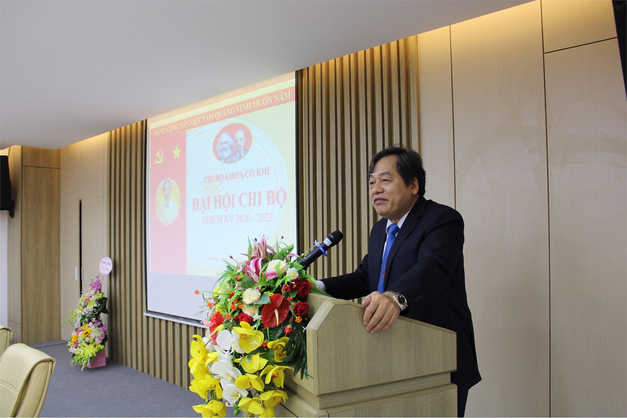 Đại hội điểm - Chi bộ khoa Cơ khí nhiệm kỳ 2020-2025 Đảng bộ trường Đại học Công Nghiệp Hà Nội