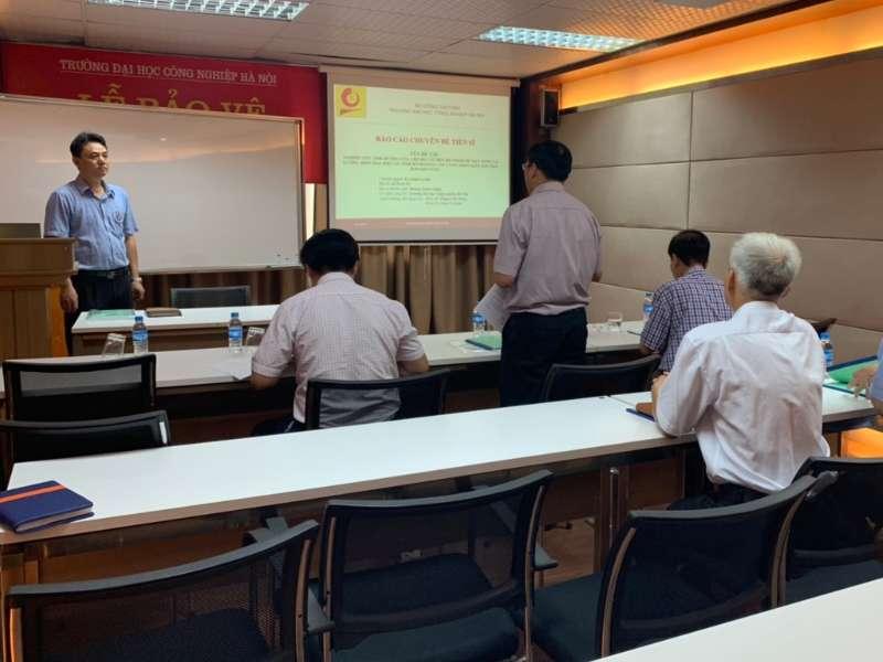 Báo cáo thành công chuyên đề do NCS Hoàng Xuân Thịnh và NCS Đặng Xuân Thao nghiên cứu