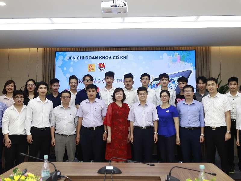 """Sinh viên Trần Đăng Hùng Long xuất sắc giành giải nhất cuộc thi """"Thiết kế logo khoa Cơ khí"""""""